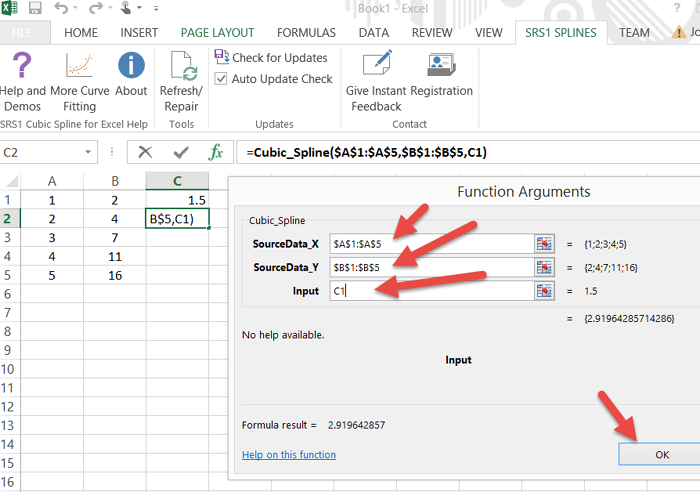 See how to add cubic spline function to Microsoft Excel