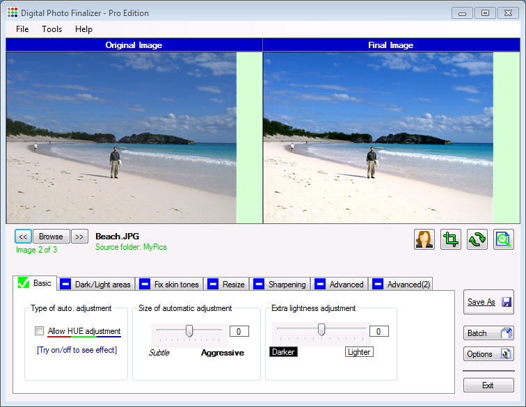 Click to view Digital Photo Finalizer Pro Edition screenshots